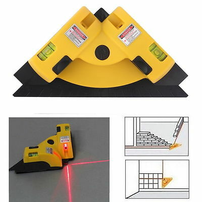 S#Right Angle 90 Degree Vertical Horizontal Laser Line Projection Square Level&W