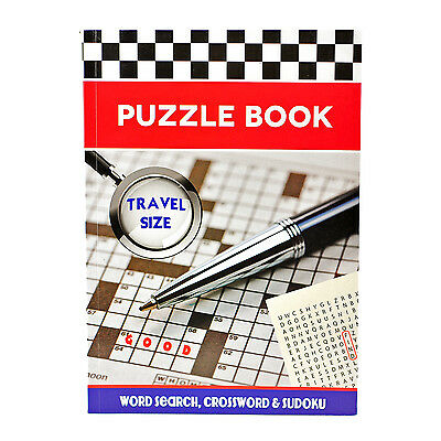 Travel Size Puzzle Book Contains Word Search - Crossword Sudoku Puzzles