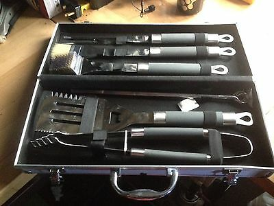 6 Piece Bbq Cooking Tools Accessories In Presentation Case Box Stainless Steel