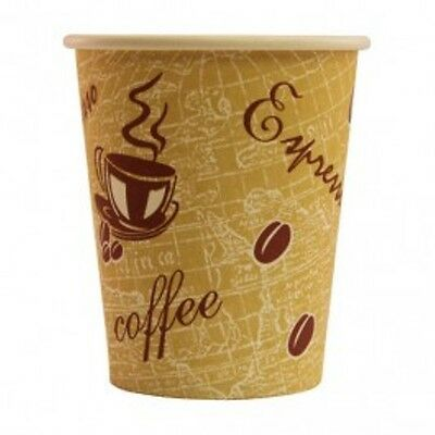 1000 Cafe Takeaway Disposable Mocha Hot Paper Cups 8 oz 12 oz and Lids