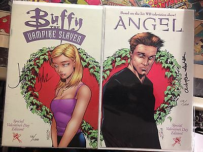 Buffy the Vampire Slayer #17 + Angel #3  Dynamic Forces  Signed Valentine Day