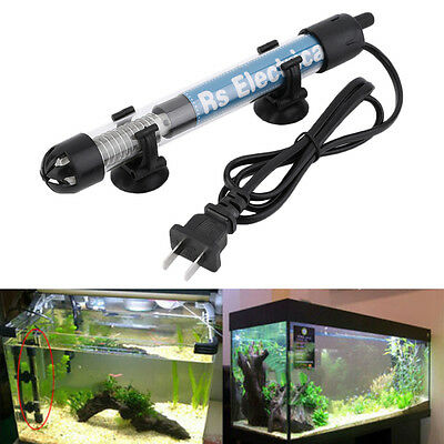 S#New Aquarium Adjustable Heater Fish Tank Water Submersible Thermostat Tropical