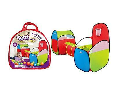 3pcs Childrens Kids Baby Play Game Outdoor Tent And Tunnel Ball Pit Playhouse UK