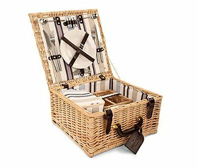 Greenfield Collection Chilworth Willow Picnic Hamper for 2-People