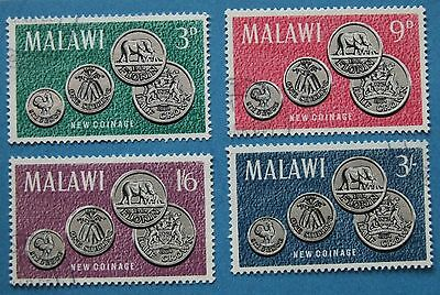 Malawi 1965 First Coinage   SET SG 232/5  VFU NEVER HINGED