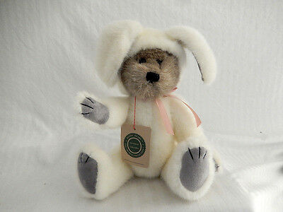 """Boyd's Bears 14"""" Plush Bear in Bunny / Rabbit Suit .. Vintage Archive Collection"""