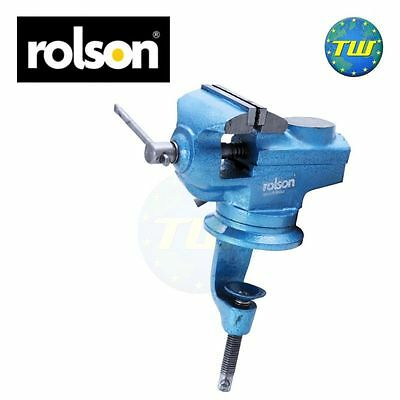 Rolson 60mm Table Vice Heavy Duty Jaws 360 Degrees Swivel Base with Anvil