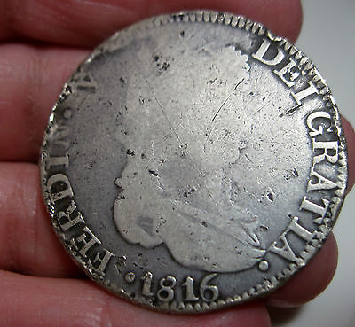 1816 AG ZACATECAS (MEXICO) 8 REALES (SILVER) ---- WAR of INDEPENDENCE-----