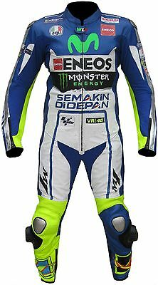 YAMAHA-ROSSI-1/2 PC Motorcycle/Motorbike Leather Suit Biker Racing-ENEOS(Rep)