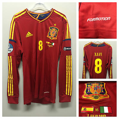 Spain 2012 final vs Italy l/s formotion player issue - 8 Xavi -