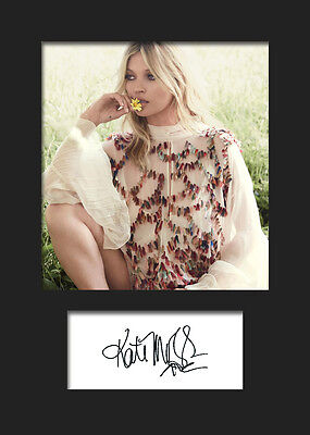 KATE MOSS #2 A5 Signed Mounted Photo Print - FREE DELIVERY