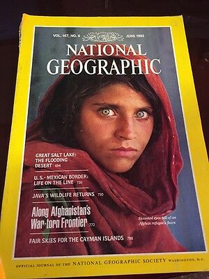 National Geographic Magazine 1985 June Afghan Girl With The Haunting Eyes