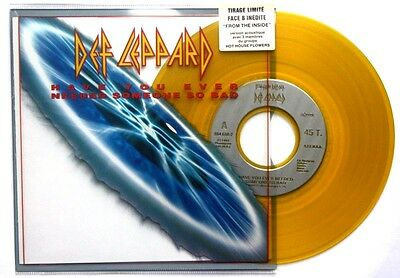 """Nm! Def Leppard Have You Ever Needed Someone So Bad Yellow Coloured 7"""" Vinyl 45"""