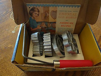 Vtg. Double Rosette and Timbale Iron Set