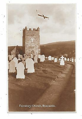 Superb Real Photographic Postcard Of Forrabury Church Boscastle Cornwall