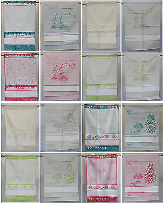 Kitchen towels und Tea towel mit Aidaborduere for counted Cross stitch