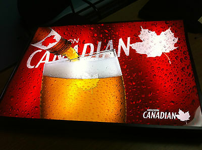 Huge 2003 Molson Canadian Beer Back Light Sign Duratrans Brand New In Box