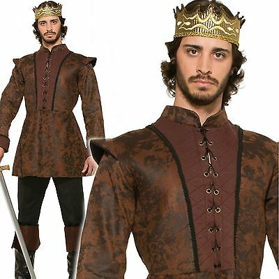 Joffrey Adult King Arthur Costume Mens Medieval Knight Prince Fancy Dress Outfit