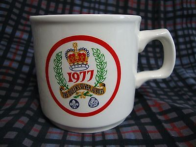 Vtg The Queen's Silver Jubilee 1977 Mug Scouts Girl Guides Carrigaline Ireland