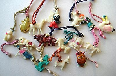 1940's VINTAGE Celluloid LOT OF 16 Cracker Jack Gumball Toy Prize Charms