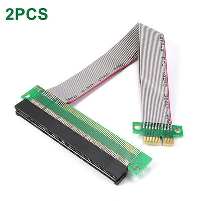2pcs 1x to 16x PCI-E Extension Cable Riser Extender Card PCI-Express Lead AC645