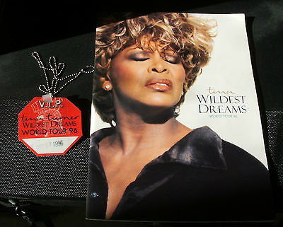 Tina Turner Wildest Dream Tour Programme 1996 With Pass