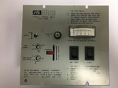 Federal Pioneer Class 1 Ground Relay Type Gfrm Used Eok