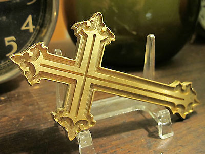 Brass GOTHIC CROSS Leather Bookbinding Press Stamp embossing die