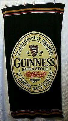 Guinness Extra Stout Beer Large Beach Bath Towel 62x34