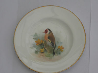 royal worcester william powell handpainted goldfinch small plate