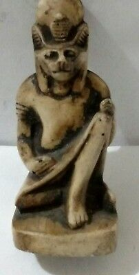 Egyptian Anubis proctor of Tombs Natural Carved Stone,  Read Description