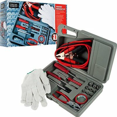 Roadside Emergency Tool and Auto Kit - 31 Pieces Roadside