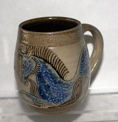 Michael and Joanna Mosse Pottery Lion & Unicorn Mug in Salt Glazed Stoneware