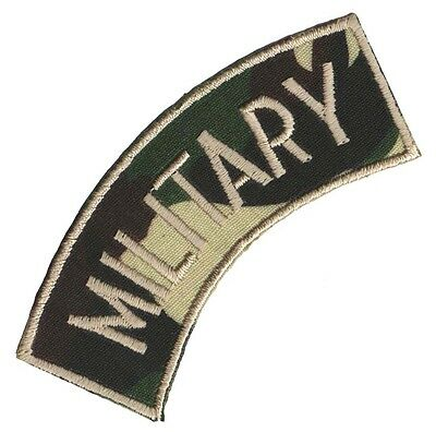"PARCHE bordado en tela MILITAR/AIRSOFT ""MILITARY"" EMBROIDERED PATCH"