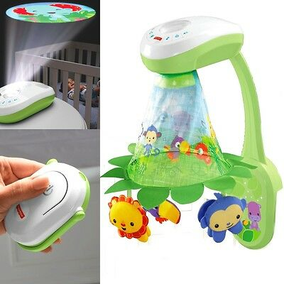 Fisher Price Baby Mobile und Projektor DFP09 Rainforest mit Fernbedienung Musik