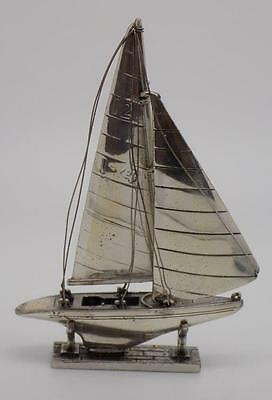 Vintage Solid Sterling Silver 925 BIG Regatta Boat / Ship - Stamped - Italian