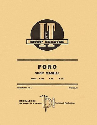 Ford Tractor 2N 8N 9N Shop Manual  I&T Shop Service coil binding