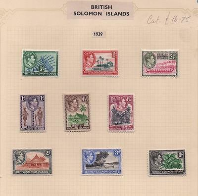 SOLOMON ISLANDS: 1939 Examples - Ex-Old Time Collection - Album Page (6973)