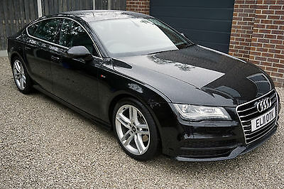 Audi A7 3.0 TDI S Line 2013 Black - 62,000 Miles / FDSH / MOT / Great Condition