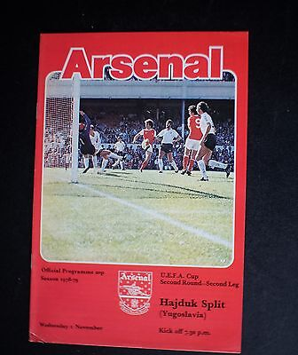 Arsenal Vs Hajduk Split 1978 - 1979 UEFA Cup Nov 1st