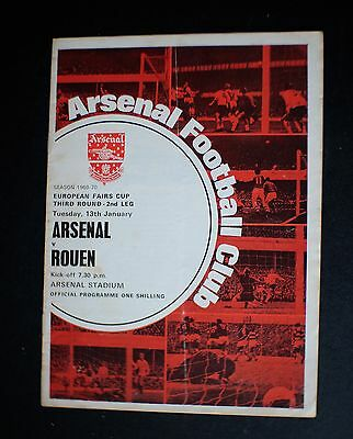 Arsenal Vs Rouen 1969 - 1970 EUROPEAN FAIRS CUP Jan 13th