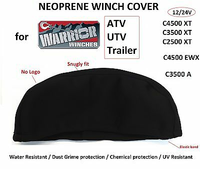Warrior Winch Neoprene Cover 2500 3500 4500 lbs WaterResist M Small Snugly fit