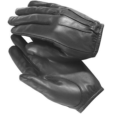 Kevlar Anti Slash Fire Resistant Black Leather Gloves Security SIA