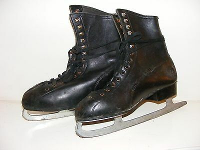 Ice Skating Boots (Vintage?) Black