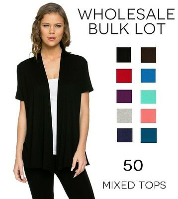 Wholesale 50 Pack Womens Clothing Tops Tunics Cardigans S-Xl Swap Meet Resale