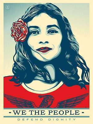 Shepard Fairey · We The People · Defend Dignity · SIGNED Offset Print · 24x36