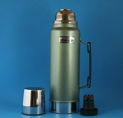 Stanley Aladdin A-944 DH One Quart Thermos Pour Thru Stopper   NO DENTS OR RUST!