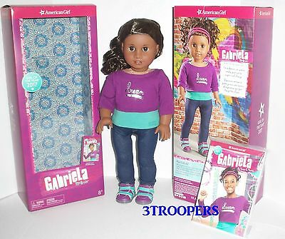 "American Girl Gabriela  - Doll Of The Year 2017  - 18"" - New In Box  With Book"