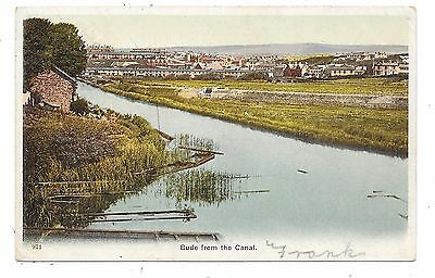Nice Printed Postcard General View Of Bude Cornwall From The Canal Posted 1904