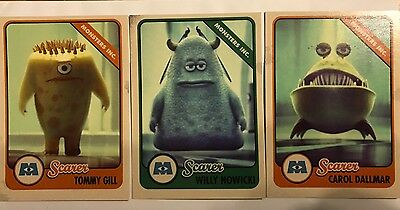 Monsters University Scare Card  09 Tommy Gill 14 Willy Nowicki 41 Carol Dallmar